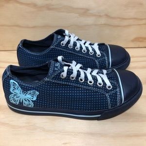 L.L. Bean Polka Dot with Butterfly Canvas Sneakers